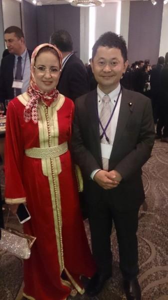 (モロッコの方の民族衣装はとっても素敵でした)