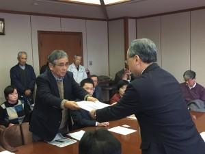 日本原米軍受け入れ反対要請2018年2月27日E