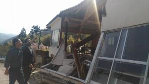 島根県西部地震視察2018年4月10日