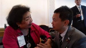 サーロー節子さんとともに国連でT